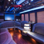 26 Passenger Party Bus Interior in NYC